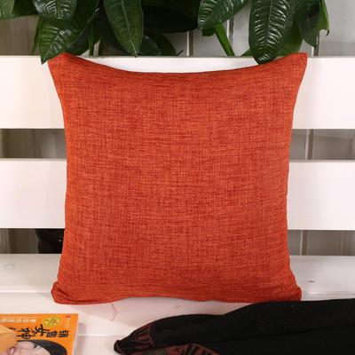 加厚麻布沙发靠枕(桔色) 45*45含芯 桔色