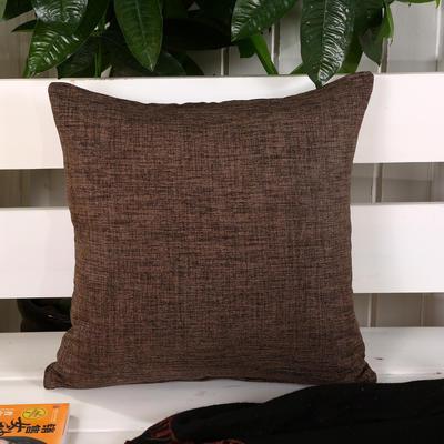加厚麻布沙发靠枕(咖色) 45*45含芯 咖色