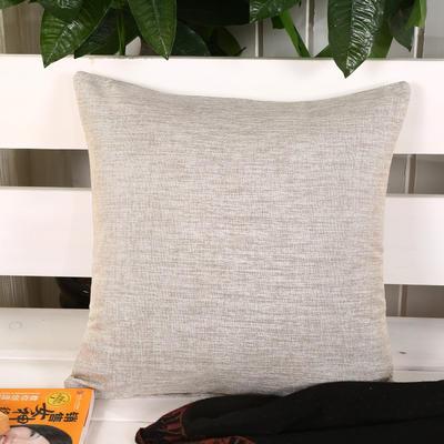 加厚麻布沙发靠枕(米白) 45*45含芯 米白