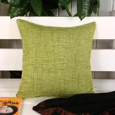 加厚麻布沙发靠枕(浅绿) 45*45含芯 浅绿