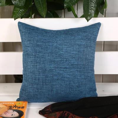 加厚麻布沙发靠枕(深蓝) 45*45含芯 深蓝