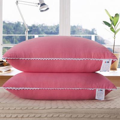 水洗棉单边枕芯48*74cm(粉色) 粉色