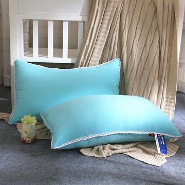 水洗棉单边枕芯48*74cm(浅绿)
