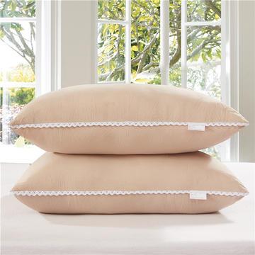 水洗棉单边枕芯48*74cm(驼色)