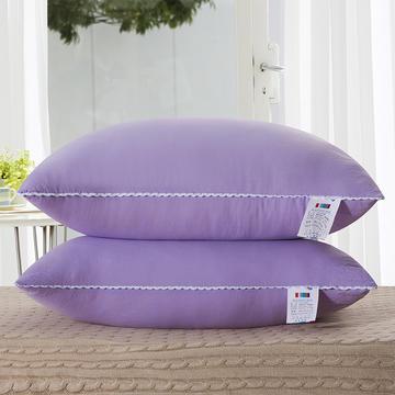水洗棉单边枕芯48*74cm(紫色)