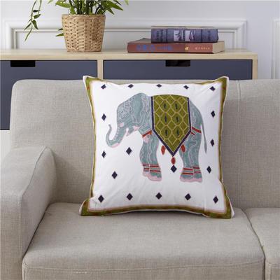 新款全棉毛巾复合秀抱枕靠枕(大象) 45x45cm 大象