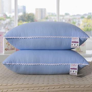 水洗棉单边枕芯48*74cm(蓝色)