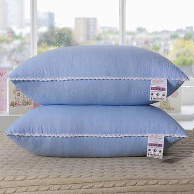 水洗棉单边枕芯48*74cm(蓝色) 蓝色