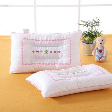 明星枕业 儿童刺绣决明子枕芯枕头