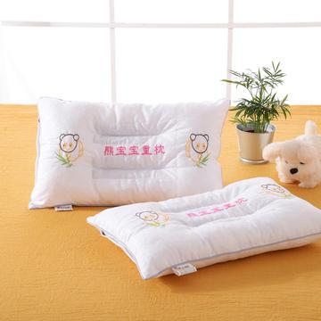 明星枕业儿童决明子枕芯枕头 熊宝宝-白