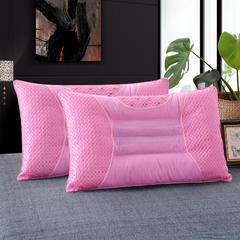 明星枕芯 决明子磁疗枕芯 保健枕头 粉色