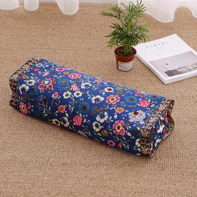 荞麦枕 老粗布全棉荞麦枕芯 枕头-可调节高度 富贵花开