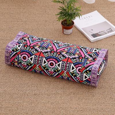 荞麦枕 老粗布全棉荞麦枕芯 枕头-可调节高度 花之城
