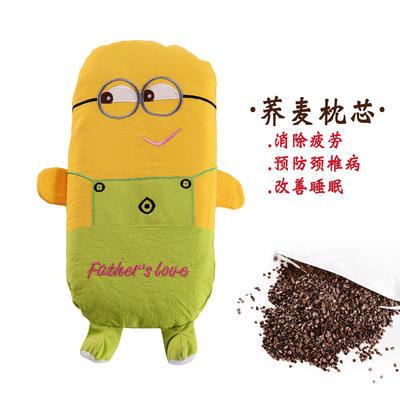 全棉卡通儿童荞麦枕(小黄人) 小黄人 25*52cm