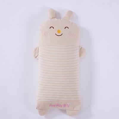 彩棉儿童小米壳枕 萌小兔大号48*24cm