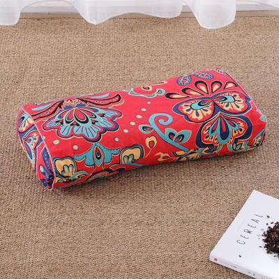 老粗布荞麦枕腰鼓枕(50*25cm) 暗香