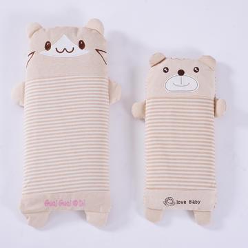 彩棉儿童小米壳枕(萌小熊)