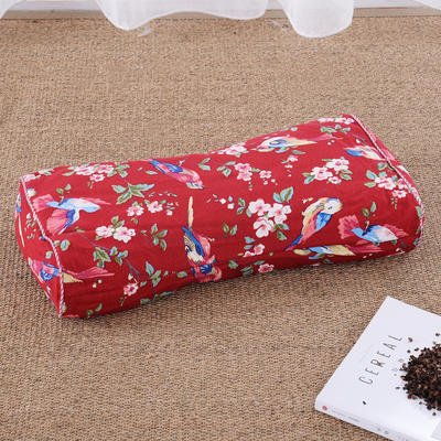 老粗布荞麦枕腰鼓枕(50*25cm喜鹊红) 喜鹊红