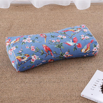 老粗布荞麦枕腰鼓枕(50*25cm喜鹊蓝) 喜鹊蓝