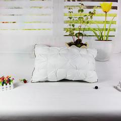 明星枕业 枕芯枕头 韩式面包羽绒枕 白