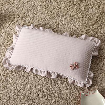 明星枕业 荞麦枕水洗棉蝴蝶结(30*50) 时尚灰