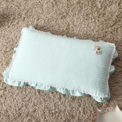 明星枕业 荞麦枕水洗棉蝴蝶结(30*50) 优雅绿
