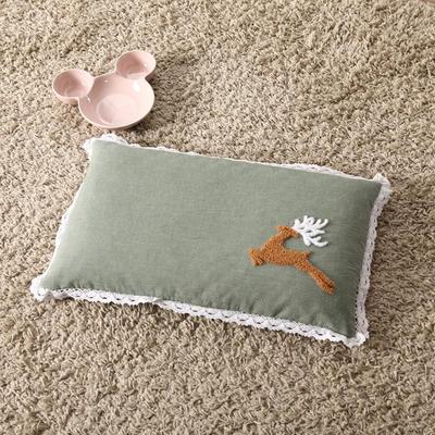 明星枕业 荞麦枕纯棉水洗棉毛巾绣(30*50) 小鹿