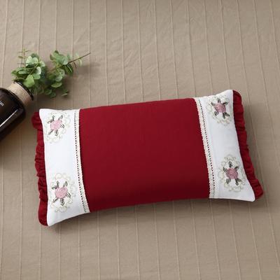 2018新款-全棉绣花荞麦枕50*30cm 中国红