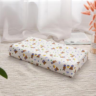 明星枕业-2018新款-泰国天然儿童乳胶枕 熊和兔大号