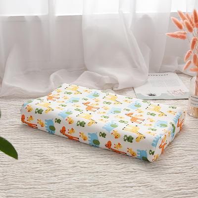 明星枕业-2018新款-泰国天然儿童乳胶枕 长颈鹿小号
