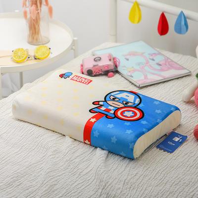 明星枕业-正版官方授权迪士尼乳胶 小号美国队长-白蓝