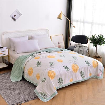 2019新款-全棉蚕丝被夏凉被 150x200cm 香橙满园