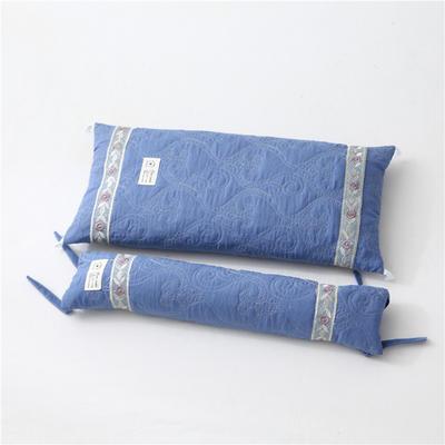 2019新款-多功能水洗棉可调节荞麦枕头护颈椎枕头2合一子母组合枕 荞麦组合枕宝石蓝/一个
