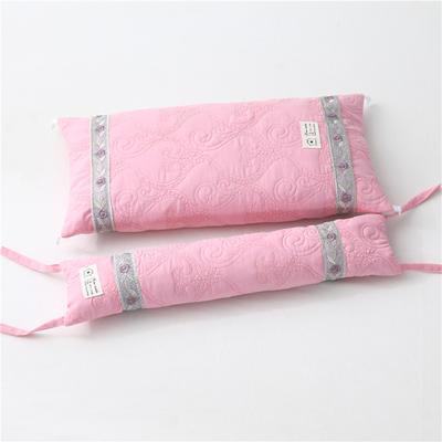2019新款-多功能水洗棉可调节荞麦枕头护颈椎枕头2合一子母组合枕 荞麦组合枕粉玉/一个