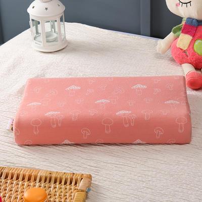 2019新款-乳胶枕全棉提花枕头 44*27/6cm 小蘑菇