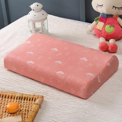 2019新款-全棉提花乳胶枕套 44*27/6cm 小蘑菇
