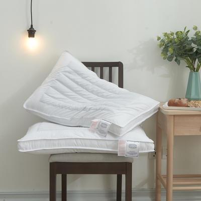 2019新款-全棉立体荞麦两用定型羽丝枕芯 白色