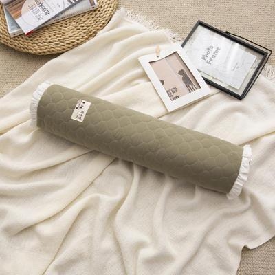2019新款-全棉砂洗荞麦枕糖果枕12*50cm 糖果荞麦枕绿色/个