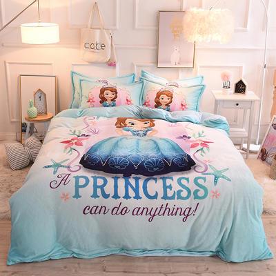 2019秋冬-正版授权迪士尼水晶绒四件套 床单款三件套1.0m床-1.35m床 海洋之星