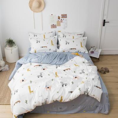 220新款-A類60支長棉四件套 床單款三件套1.2m(4英尺)床 大草原