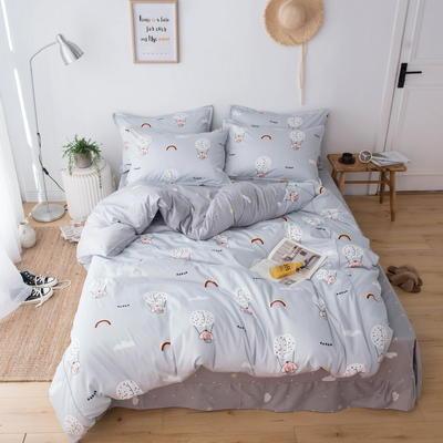 220新款-A類60支長棉四件套 床單款三件套1.2m(4英尺)床 大象彩虹