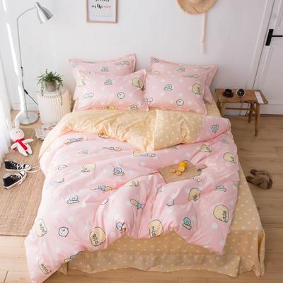 220新款-A類60支長棉四件套 床單款三件套1.2m(4英尺)床 糯米團粉