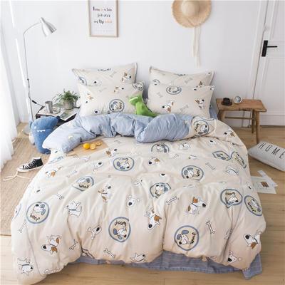 220新款-A類60支長棉四件套 床單款三件套1.2m(4英尺)床 小旺仔