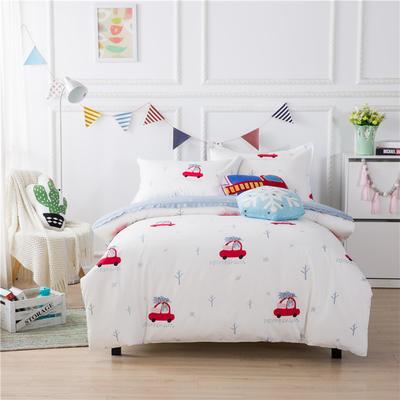 220新款-A類60支長棉四件套 床單款三件套1.2m(4英尺)床 小熊快車