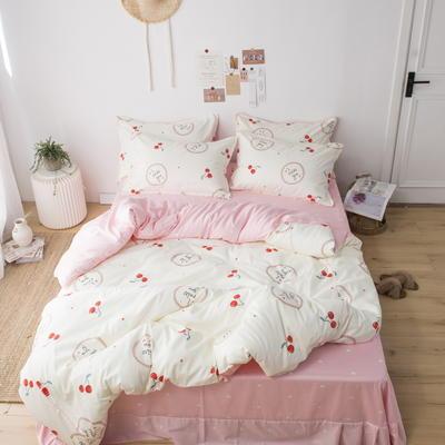 220新款-A類60支長棉四件套 床單款三件套1.2m(4英尺)床 小櫻桃
