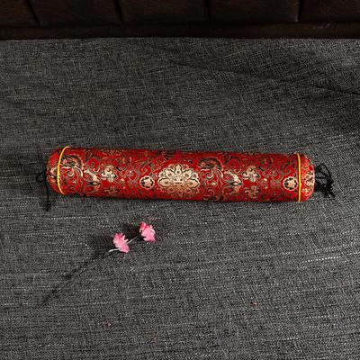 2020新款-荞麦枕枕头枕芯 圆柱42*8流光溢彩红色/个