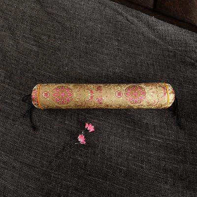 2020新款-荞麦枕枕头枕芯 圆柱42*8流光溢彩金色/个