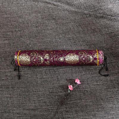 2020新款-荞麦枕枕头枕芯 圆柱42*8流光溢彩紫色/个