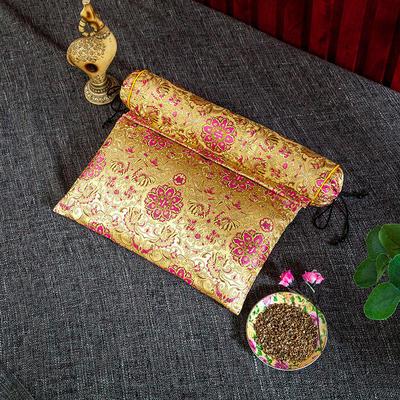 2020新款-荞麦枕枕头枕芯 方枕42*25流光溢彩金色/个
