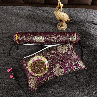 2020新款-荞麦枕枕头枕芯 方枕42*25流光溢彩紫色/个